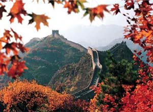 Badaling Great Wall in Autumn