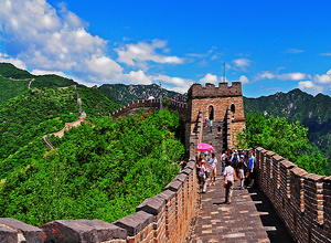 Most beautiful Great Wall at Mutianyu Section