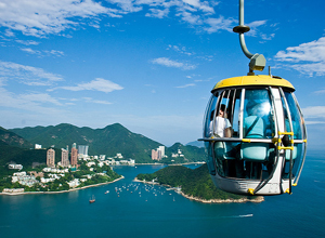 Visit Repulse Bay by cable car in Hong Kong